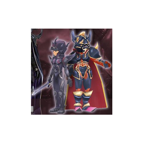 Golbez and Dark Knight Cecil's Virtual World avatars.