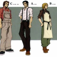 <i>Crisis Core</i> concept art (right).