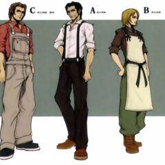 Nibelheim villagers in <i>Crisis Core -Final Fantasy VII-</i>.