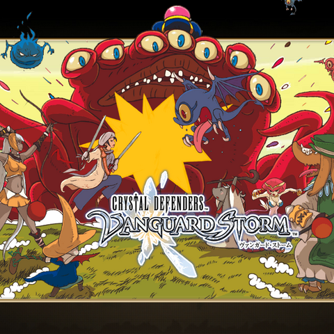 Artwork featuring all jobs (except for Dragoon and Soldier) fighting against monsters.