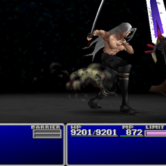 Sephiroth attacks.