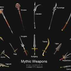The Mythic Weapons in <i><a href=