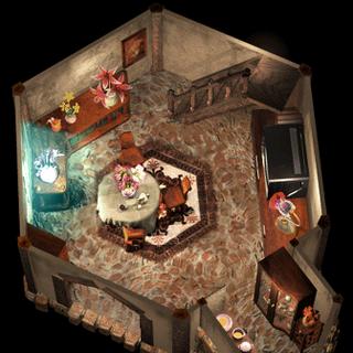 Дом Аэрис, первый этаж.