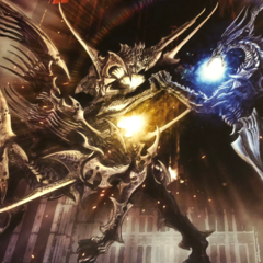 Possible concept artwork featuring Bahamut.