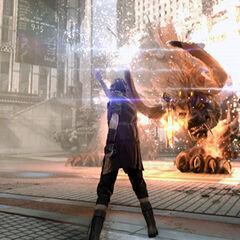Noctis usando Fire.