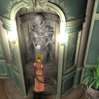 Entrance to the sewers behind the statue in General Caraway's office.