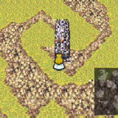 Kefka's Tower on the World Map (SNES).
