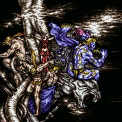 Statues battle background (SNES).