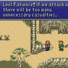 General Leo urging one of his men to be patient (GBA).