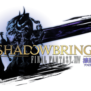 <i>Final Fantasy XIV: Shadowbringers</i> logo.