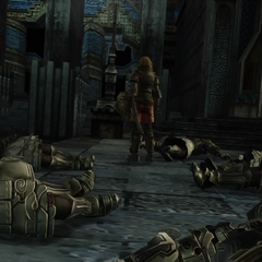 Basch decimating Imperial forces at the fortress.