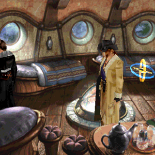 Caixa de musica de Moomba no Vilarejo Shumi em <i>Final Fantasy VIII</i>.