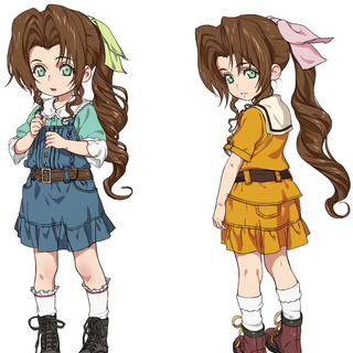 Artwork of young Aerith.