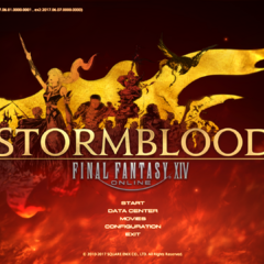 Pantalla de título de <i>Stormblood</i>.