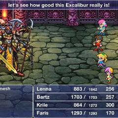 Gilgamesh em sua verdadeira forma em <i>Final Fantasy V</i>.