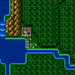 Troia on the World Map (SNES).