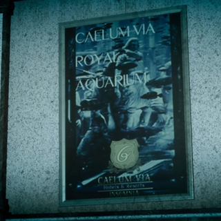 Poster in <i>Final Fantasy XV</i>.