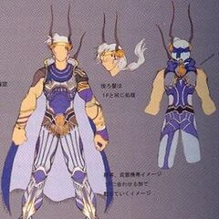 Concept art of third outfit EX Mode.