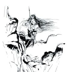Amano art of Maria from the novel.