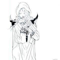 Artwork by Yoshitaka Amano for <i>The Complete Collection</i>.