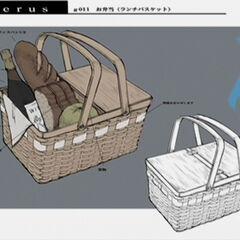 Концепт-арт корзинки для пикника.