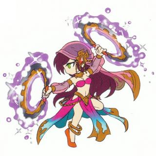 Soleil's sprite concept artwork.