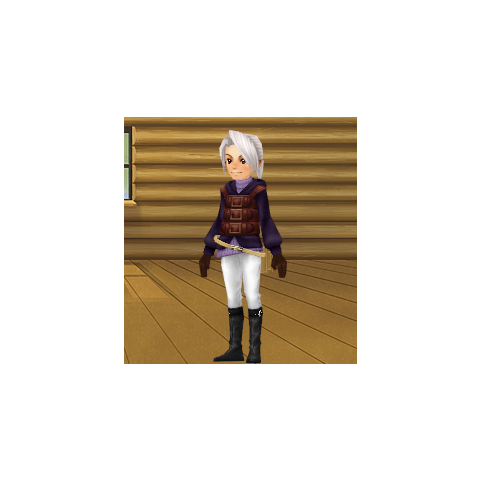 An avatar dressed as Luneth from the Square-Enix Members Virtual World.