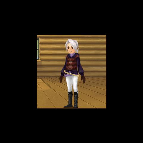 Um avatar vestido como Luneth.