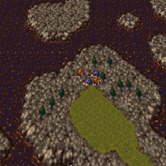 Kohlingen on the World of Ruin map (SNES).