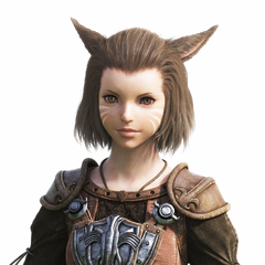 Female Miqo'te bust; this model served as the basis for the Miqo'te seen in 1.0's opening movie.