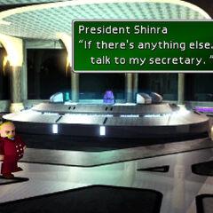 Президент Шинра в своем офисе в штаб-квартире Шинра.