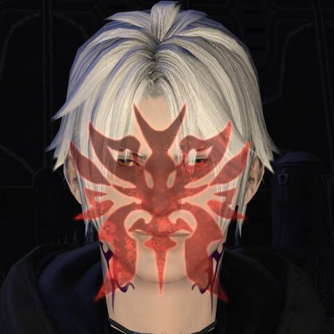 Zodiark's symbol on the possessed Thancred.