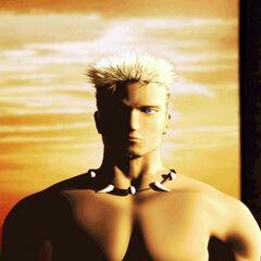 Трехмерное CG-изображение Сабина в <i>Final Fantasy Anthology</i>.