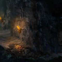 Raíces por los túneles.