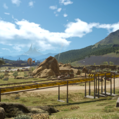Трубопровод рядом с шахтами.