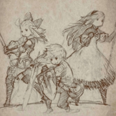 Sketch of Edea, Tiz and Agnès.