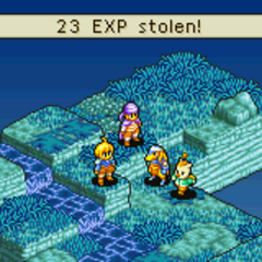 Steal EXP, an ability of the Thief's Steal command, in <i><a href=