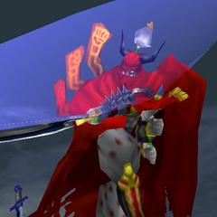 Gilgamesh usando a Zantetsuken em <i><a href=