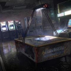 Arte conceitual de um arcade.