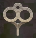 LRFFXIII Silver Windup Key