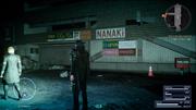Nanaki and Morrids Coffee signs in Insomnia in FFXV