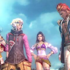 Lebreau with NORA in <i>Final Fantasy XIII-2</i>.