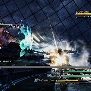 Amodar in battle.