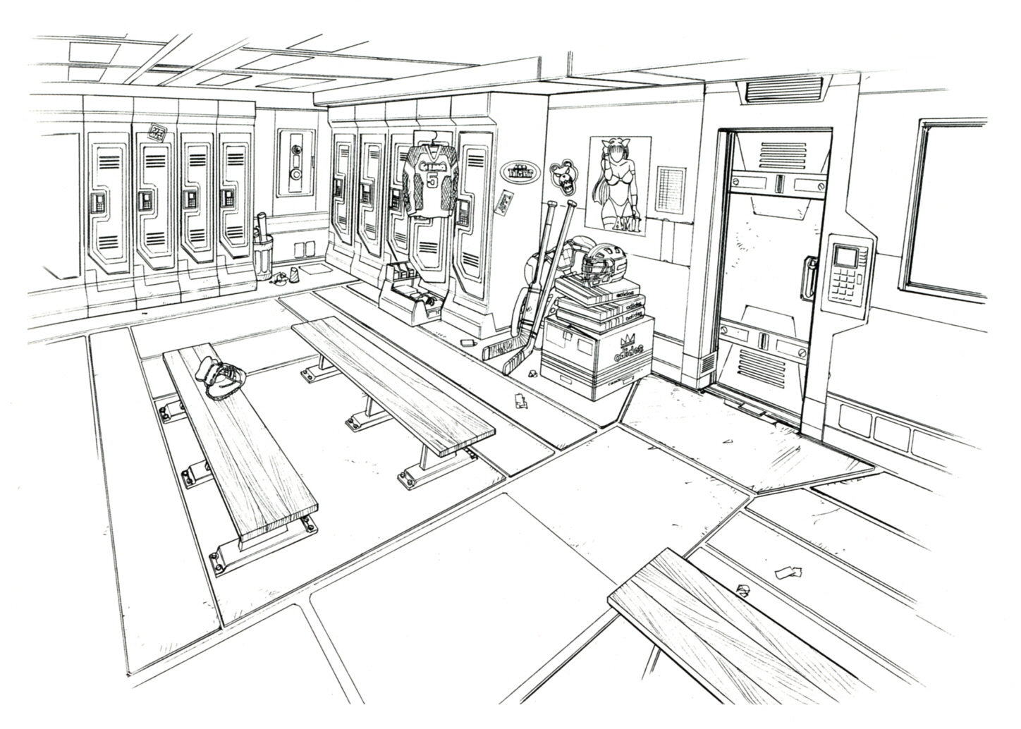 Image galbadia garden locker room ff art g final