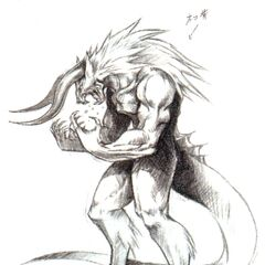 Concept artwork of the Galian Beast from <i>Final Fantasy VII</i>.