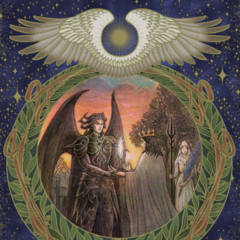 Cosmogony illustration of the Founder King and Oracle.