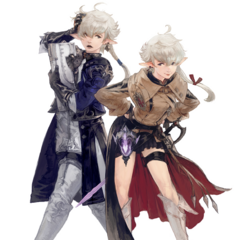 Alphinaud and Alisaie artwork.
