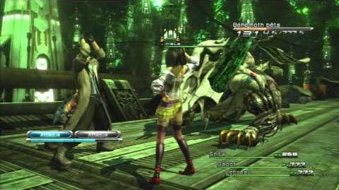 Final Fantasy XIII Combat contre Béhémoth Bêta