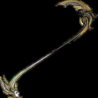 Pulse retratado como a metade demoníaca da foice de Bhunivelze.