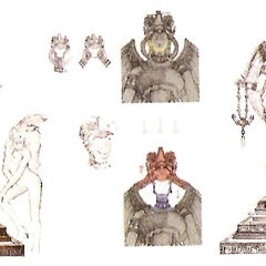 Concept art of the Goddess Statue.